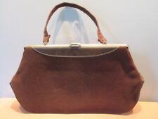 Vintage Retro Brown Purse Handbag 50s Vegan RockabiLly