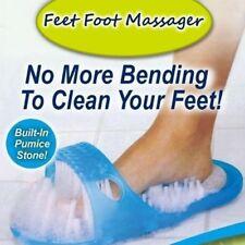 Shower Feet Foot Scrubber Massager Cleaner Spa Exfoliating Washer Wash Slipper V