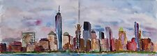 New York Skyline from Jersey City watercolor