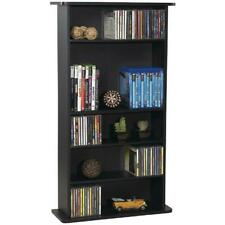 Fancy Multimedia Storage Cabinet Stand Tower DVD Rack Shelf Media Book Compact
