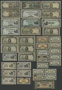 Lot of 38 PHILIPPINES WWII JAPANESE OCCUPATION CURRENCY 1 Centavo to 100 Pesos