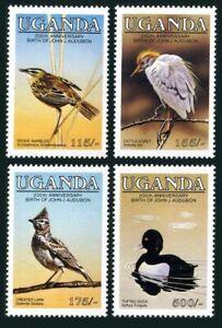 Uganda 453-456,457,MNH.Michel 435-438,439 Bl.51. John Audubon's birds,1985