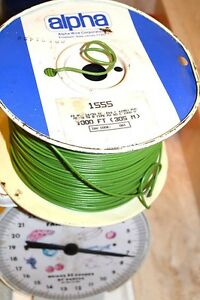 ALPHA 1555 PVC HOOKUP WIRE 18 AWG STRANDED ~95% of 1000 FT SPOOL NEW GREEN