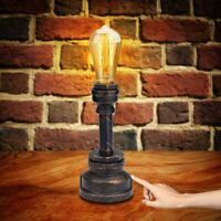 Industrial, Vintage Style Table Lamp, Dimmable Touch Control, Bulb Included