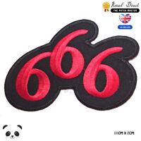 666 Devil Horned Punk Biker Embroidered Iron On Sew On PatchBadge