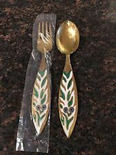 1970 - A Michelsen - Gilded Silver Christmas Fork & Spoon