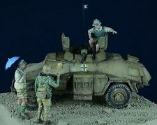 D-day Miniature 1:72 German Afrika Korps Set 1 - 3 Resin Figures Kit #72002