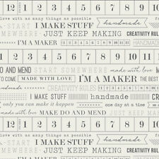 Maker I'm a maker by Art Gallery fabrics 100% cotton quilting & patchwork fabric