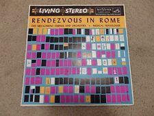 Melachrino Strings Rendezvous in Rome RCA Lspf 1955 Cover Variation 1S/2S