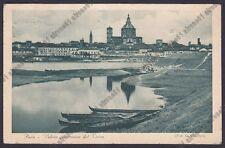 PAVIA CITTÀ 89 Fiume TICINO - BARCHE Cartolina viaggiata 1930
