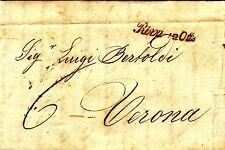 Z17054-TRENTINO, PREF., DA RIVA ( DEL GARDA) A VERONA, 1845