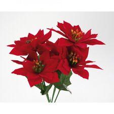 schöner Weihnachtsstrauß, roter Christstern mit 5 Blüten, 30cm, neu