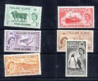 Falkland Islands 1955 QEII mint MNH set (2d gum abrasion) SG187-192 WS20409