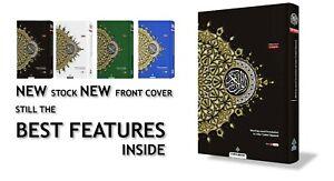 MAQDIS Quran Word for Word Arabic to English Translation Colour Tajweed A4 Black