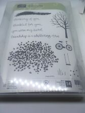 Stampin' Up SHELTERING TREE 14pc Photopolymer Stamp Set ~ Tree Bicycle & Phrases