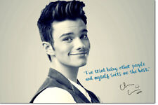 CHRIS COLFER QUOTE ART PRE-SIGNED PHOTO PRINT POSTER N.O 2  - 12 X 8 INCH - GLEE