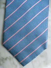 CHARLES TYRWHITT Krawatte 100% Seide #KLASSISCH IN HELLBLAU GESTREIFT#Neuwertig