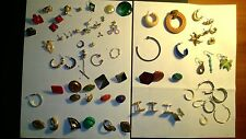 LOT (71) of UNPAIR VINTAGE COSTUME JEWELRY EARRINGS MIXED STYLES, CUFFLINCS