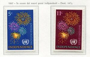 19074) UNITED NATIONS (New York) 1967 MNH** Indipendence