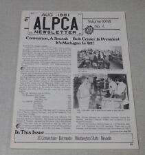 ALPCA license plate collectors newsletter August 1981