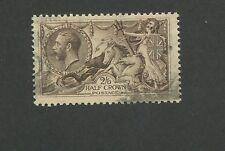 1913 Great Britain United Kingdom King George V 2 Shilling Postage Stamp #173