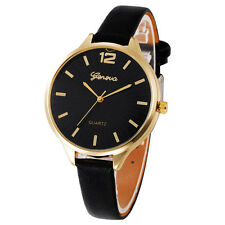 NEW Arrival Womens Watches Faux Leather Quartz Analog Bracelet Wrist Watch Gift
