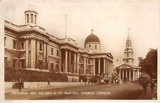 BR59553 national art gallery and st martin church london   uk real photo
