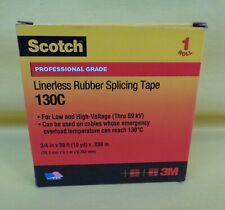 3m Scotch Linerless Rubber Splicing Tape 130c 34 In X 30 Ft Black