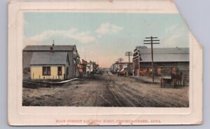 Main Street, Pincher Creek, Alberta, 1910 Gelatin Postcard, Local Publisher