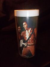 VINTAGE 1977 ELVIS PLASTIC THERMO TUMBLER CUP THE KING LIVES ON 1935-1977