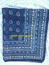 Indian Kantha Throw Paisley Print Kantha Quilt Reversible Bedspread.Cotton-Gudri
