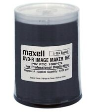 Maxell DVD-R Image Maker Discs 16x Spindle 100 Pack for Professional Duplication