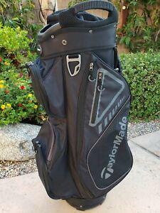 Taylormade 14 way Cart Golf Bag Black Large Putter-Well Front Rain Hood 2020