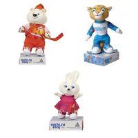 Set of Sportmen Plush Mascots Sochi 2014 Olympic Games Polar Bear Leopard Hare