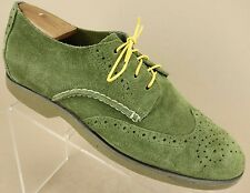 Sperry Top Sider Green Suede Wingtip Brogue Casual Derby Oxfords Shoes Mens 8 M