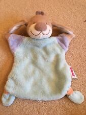 Nattou Baby Blue Boys Puppy Dog Puppet Comforter Blanket Plush Soft Toy