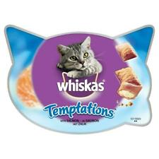 8 x 60g Whiskas Temptations Adult Cat Treats with Salmon Cat Biscuits (480g)