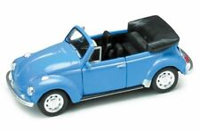 VW Coccinelle Cabriolet bleu, Welly Modèle Auto environ 1:35, Neuf