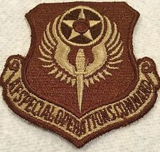 Air Force Special Operations Command (AFSOC) Desert Patch Tan & Brown AF USAF