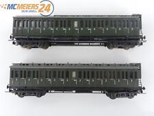 E45D144 Liliput H0 2x Personenwagen Abteilwagen mit Bremserhaus 3 Klasse