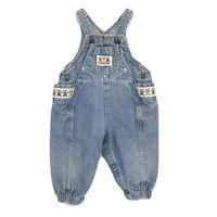 Vintage Osh Kosh B'Gosh Infant Vestbak Overalls Teddy Bear Spellout 18 Month