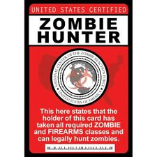 Zombie Hunter Badge with Chain  - fun for Halloween Costume of the Walking Dead