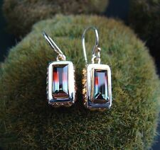 Sterling Silver .925 Handcrafted Mystic Topaz Baguette Desert Song Earrings