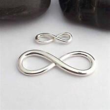 LARGE SOLID STERLING SILVER Infinity connecteur argent infini symbole éternité