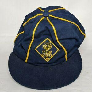 Vintage Cub Scouts Visor Cap- Genuine Texon - 6.5