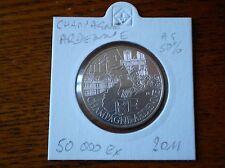 Pièce 10 euros région CHAMPAGNE ARDENNE 2011  sous ETUI argent 50%. 50 000 EX