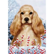 Winter Garden Flag - Buff Cocker Spaniel 150351