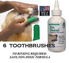 Dog Cat Pet Oral Care Dental GEL TOOTHPASTE& 6 TOOTHBRUSH Reduce Plaque/Tartar