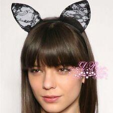 1 Pcs Lace Cat Ears Headband Hair Band Fancy Dress Party Hairband Head