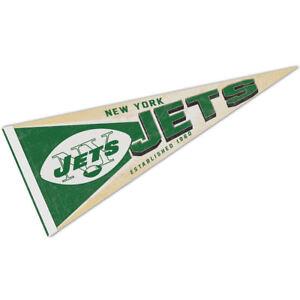 NY Jets Retro Vintage Logo Pennant Flag
